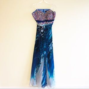 Mac Dougall prom or pageant strapless gown